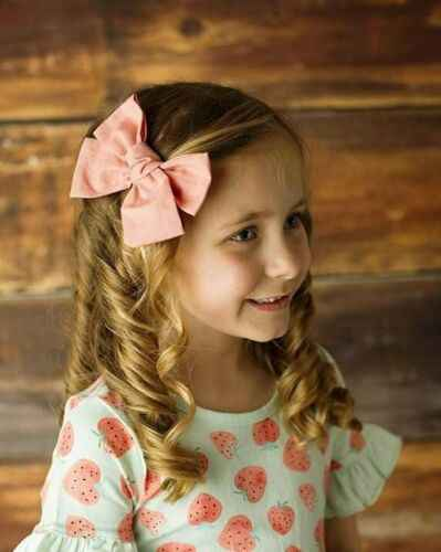 2 Pcs Thanh Thiếu Niên Lớn Tóc Clip Bows Knot Tóc Clip Cô Gái Trẻ Em Toddler Bông Headband Bộ Mới