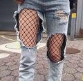 2016 Moda de NUEVA mujer Sexy Lady Grandes Mallas de Malla Elástica Transpirable de Alta Superior Medias Medias Panti Un Tamaño para La Mayoría