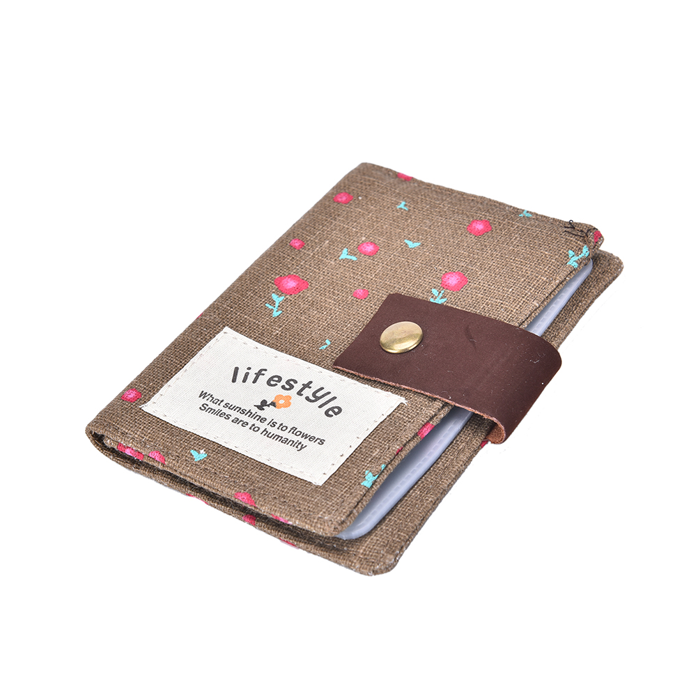 20 Slots Floral Card Holders Id Card Position Canvas Card Holder Wallets  Women Pillow Card Holder