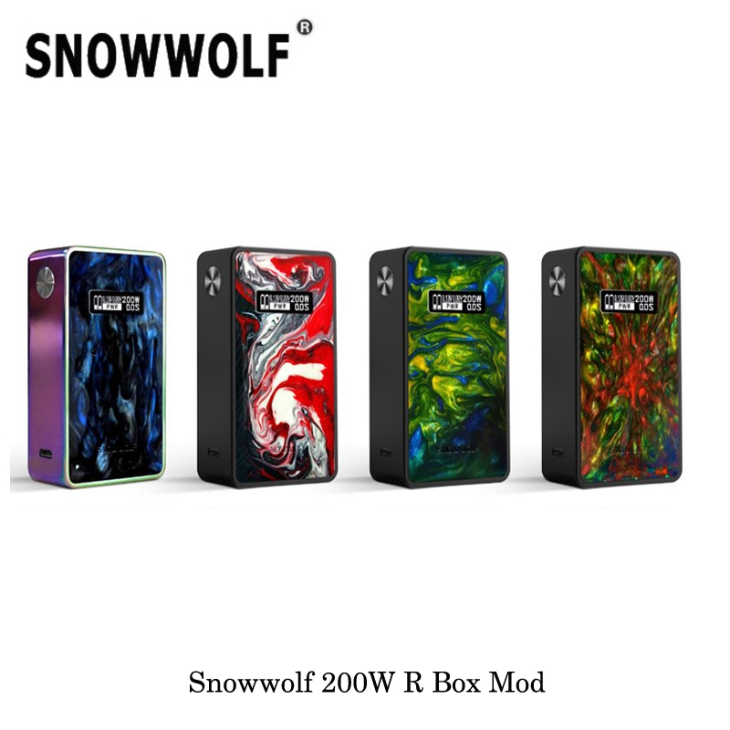 electronic cigarette Vape Snowwolf 200W R 200W-R 235W TC Box MOD By Dual 18650 Battery Vaporizer Temperature Control Mod Vape стоимость