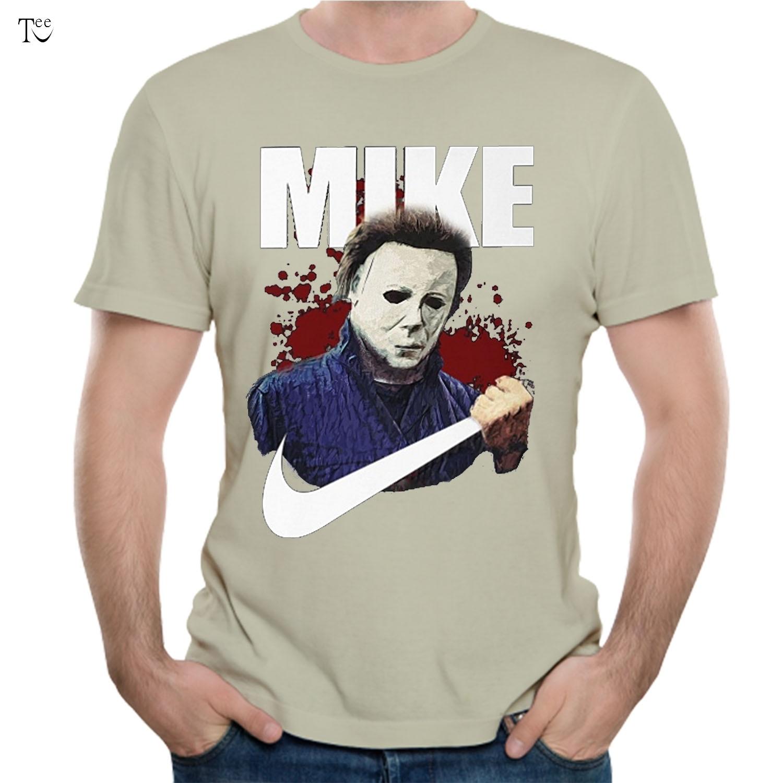 חולצה לא חולצה ליל כל הקדושים מייקל מאיירס הפופולרי מזדמן בתוספת szie Tees האופנתי מקרית למעלה עיצוב נחמד