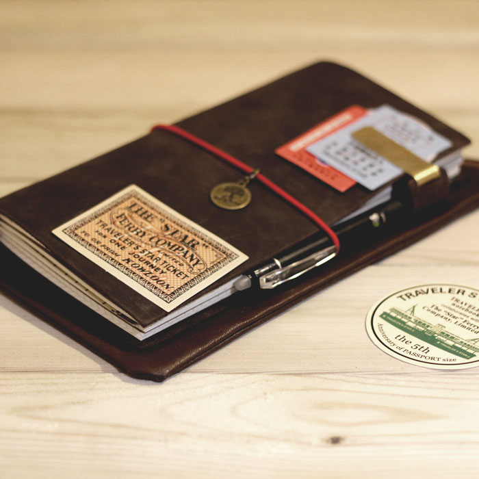 Travelers notebook traveler standard first layer of cowhide genuine leather notebook diary SIZE : 12*21CM, GENUINE LEATHER приемник wi fi tp link tl wn725n ru