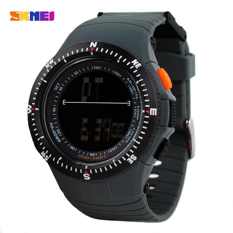0989 Men Sports Watches Casual Quartz Clock LED Digital Waterproof Military Wristwatches