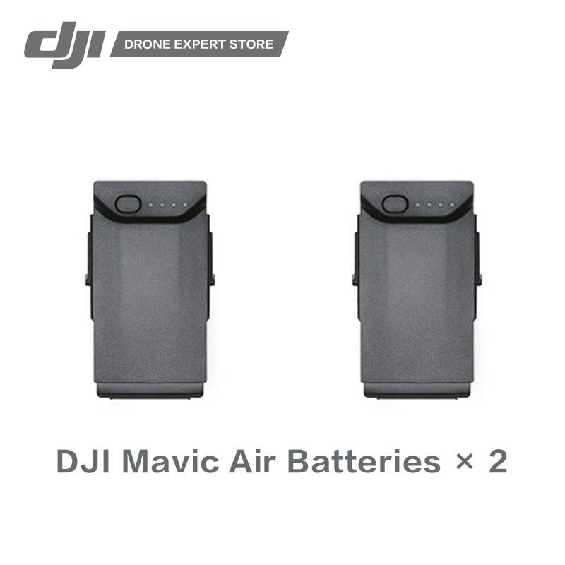 2PCS/SET DJI Original Mavic Air Intelligent Flight Battery High-Density Lithium Batteries Offering Flight Time of up to 21 Min in stock 2pcs set dji original tello flight battery drone batteries high quality cells