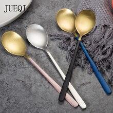 цена на Stainless Steel Coffee Spoon With Long Handle TeaSpoon Set Dessert Coffee TeaScoops Kitchen Accessories