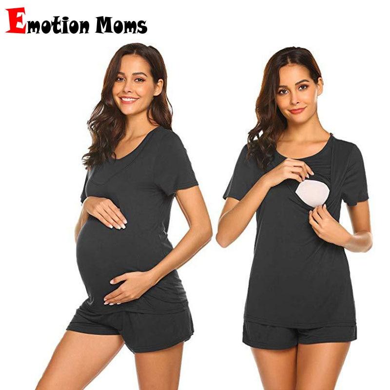Summer Breastfeeding Pajamas Maternity Nightwear Lactation Feeding Wear Nursing Sleepwear Pregnancy Clothes
