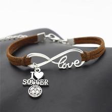 I Love Baseball Soccer Basketball Volleyball Football Bracelet