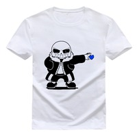 2016 New Brand Clothing Undertale Tshirt Cotton Round Collar With Short Sleeves Men And Women T
