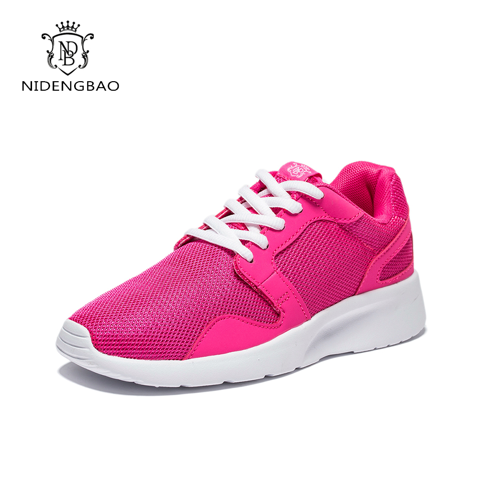 Fashion Brand Women Shoes Breathable 2017 Autumn Casual Shoes Woman Platform Lace Up Female Footwear Air Mesh Super Light shoe free shipping candy color women garden shoes breathable women beach shoes hsa21