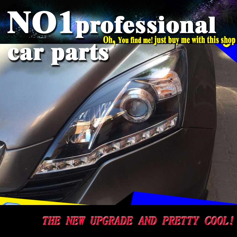 Car Styling 2007-2011 For Honda CRV headlights led  head lamp DRL front Bi-Xenon Lens Double Beam HID KIT lsrtw2017 car styling car trunk trims for honda crv 2017 2018 5th generation