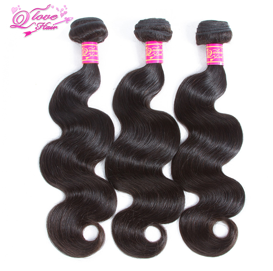 "Queen Love Hair Pre-Colored Brazilian Hair Body Wave 3/4 Bundles 100% Human Hair  Natural Color 8- 26"" Remy Hair Free Shipping"