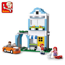 Sluban 305Pcs Residential Apartment SimCity Building Blocks Model Bricks 3D Kids Gifts Action Figure Toys for Children(China)