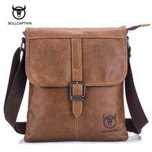 Bullcaptain Marke 2017 NEUES Echtes Leder-umhängetasche Männer Messenger Bags Zipper Design Männer Kommerziellen Aktentasche Umhängetasche