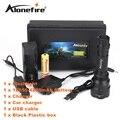 ALONEFIR C8s Cree XML T6 Тактический Фонарь Светодиодный Фонарик С USB зарядное устройство и 18650 батареи