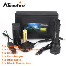 AloneFire C8 Led Flashlight 5000lm CREE XML T6 L2 U3 lantern Tactical Waterproof Torch Travel Camping Hunting lamp 18650 battery(China)