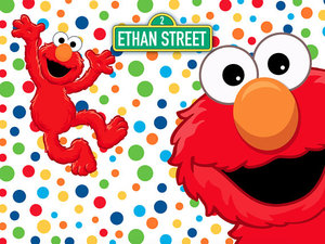 Image 2 - YH031 Sensfun Cartoon Red Elmo First Birthday background Photo backdrops Colorful Sesame Street Newborn Party Event Banner 7x5ft