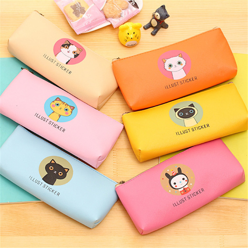 Cute Cat Women Fashion Cosmetic Bags PU Leather Toiletry Bag Travel Organizer Necessary Beauty Case Makeup Bag Bath Wash Make Up fashion cosmetic bags high quality patent leather make up bags ladies cosmetic cases organizer bags cute cosmetic bag