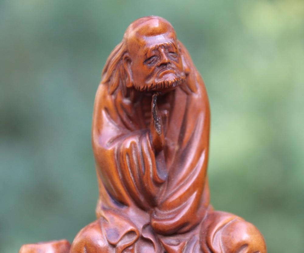5 CM Chinese red Copper arhat Dharma Bodhidharma Daruma Master Of Zen sculpture