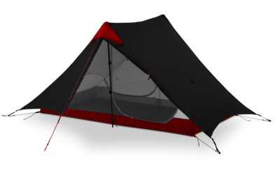 3F UL GEAR LanShan 2 Person Camping Tent Ultralight 3 Season Tent Outdoor Camp Equipment 2018 new black/ red/ white/ yellow the red tent