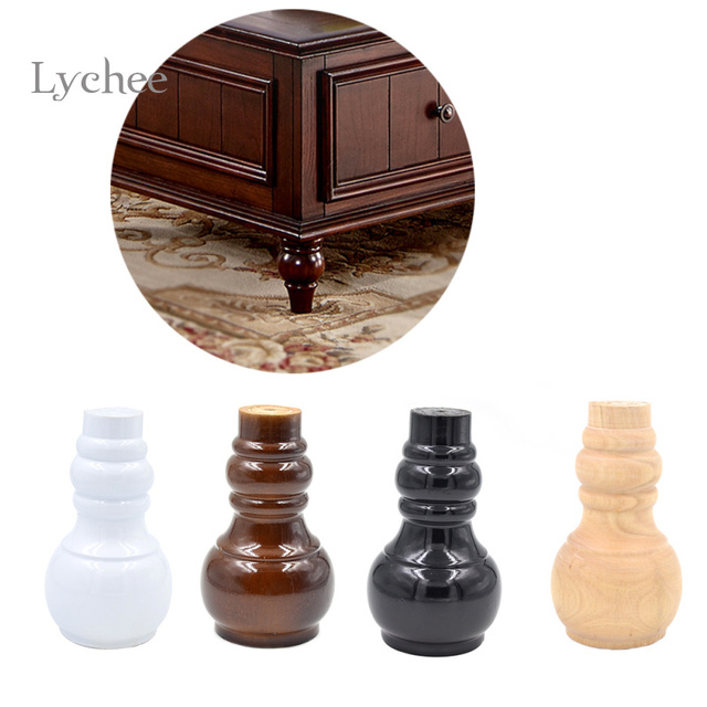 Furniture Legs For Bed lychee 1 piece wood furniture legs cabinet feet sofa legs bed