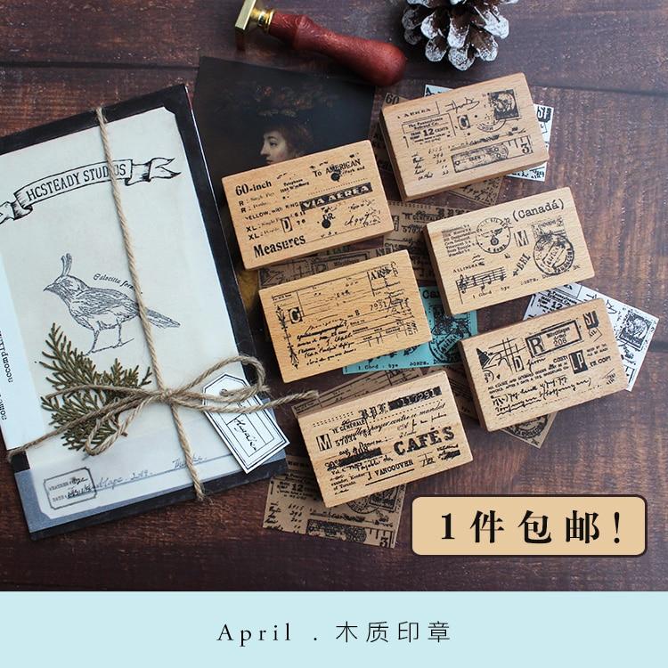 Moodtape Vintage Wood Clear Stamp For DIY Scrapbooking/photo Album Decorative Stamp Measure Postcard Rubber Stamp Seal
