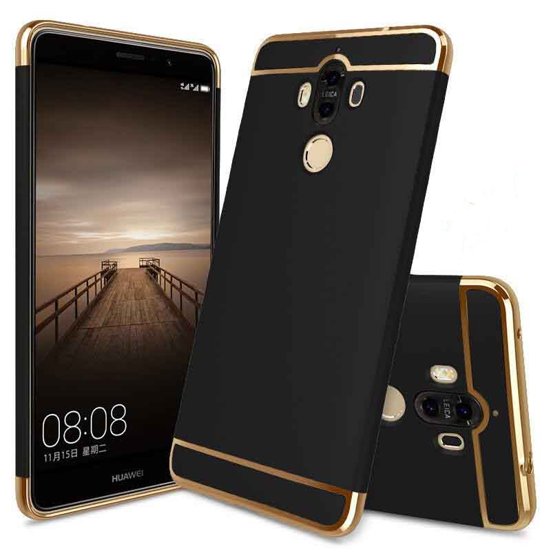 For Huawei Mate 9 Pro Honor 6X P9 Case Hybrid 3 in 1 Removable Armor Hard Plastic Cases Plating Full Protective Cover for Mate 9