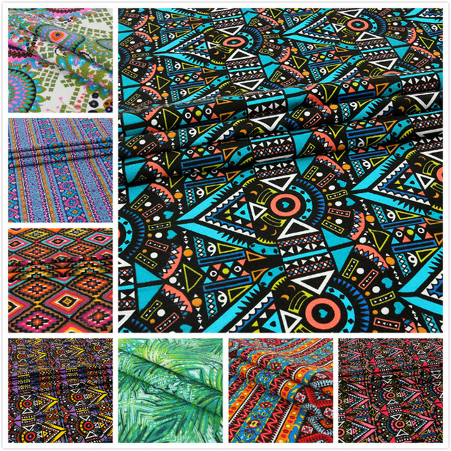 African Prints Canvas Fabric Stripe Bedding Set Fabric Tablecloth,DIY Sofa  Sets,chair Cover