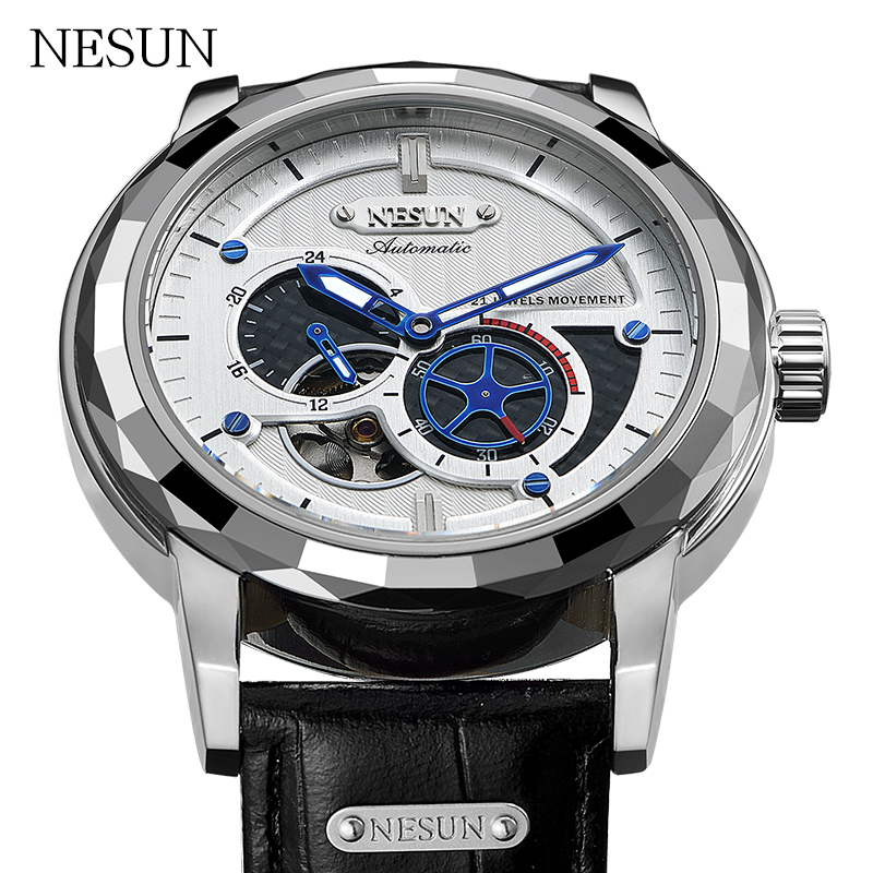NESUN Luxury Brand Fashion Tourbillon Mechanical Wristwatches Men Waterproof Automatic Self-Wind Sport Watches Relogio Masculino стоимость