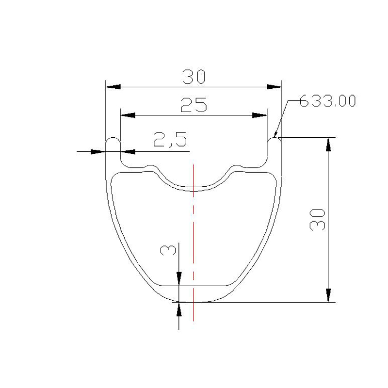 320g 29 inch MTB XC tubeless 30mm clincher carbon rim 30mm deep cross country
