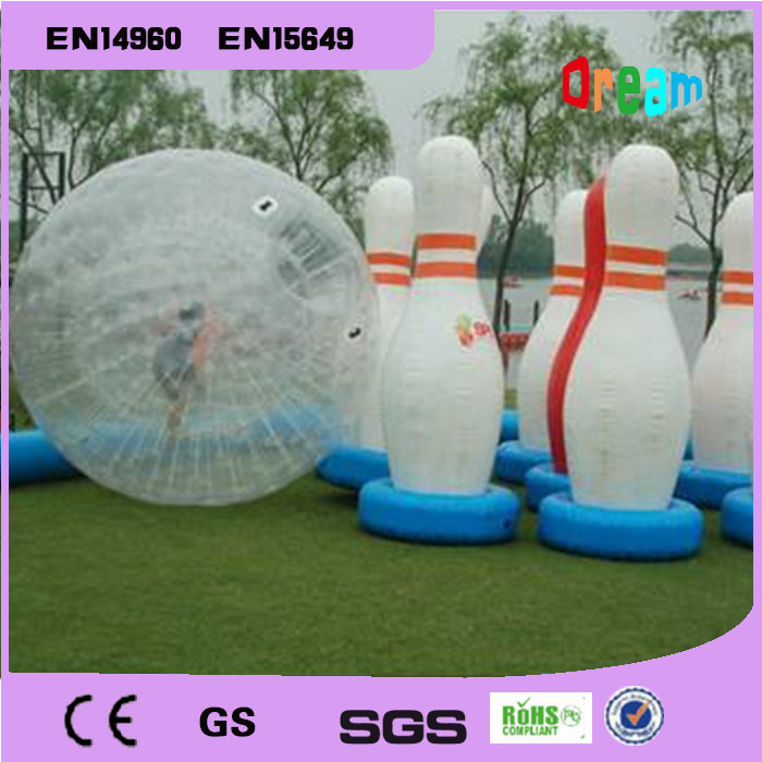 Free Shipping 6 Pieces Lot And1 Piece Zorb Ball Inflatable Human Bowling Game Zorb Ball For Bowling Outdoor Human Bowling Sport inflatable zorb ball race track pvc go kart racing track for sporting party