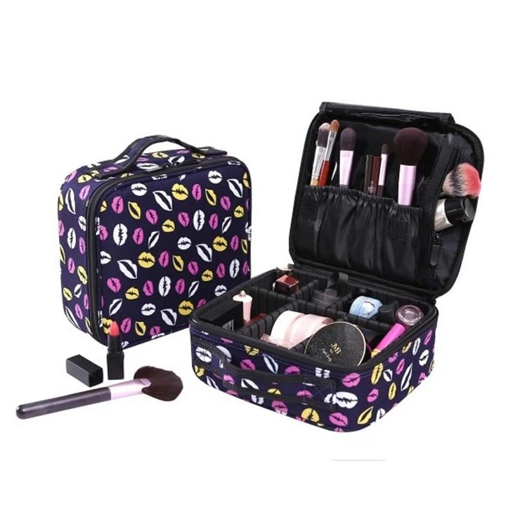 Organizer Makeup-Bags Cosmetic-Case Zipper Travel Portable Fashion Women Oxford