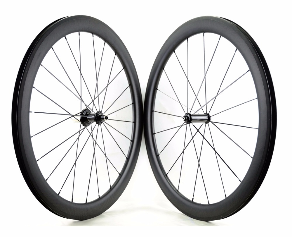 Free shipping 700C 50mm depth road carbon wheels 23mm width bike clincher carbon wheelset with powerway R36 hub U-shape rim carbon wheels 700c 25mm width 38mm clincher racing bicycle wheels road bike carbon wheelset clincher with powerway r51 hub