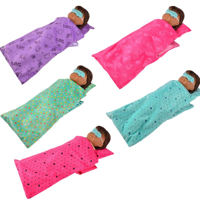 Luckdoll colorful sleeping bag fit 18inch American Girl Doll Doll Accessories Give Your Child The Best Gift new 2016 hot blue umbrella for the american girl doll clothes accessories of 18 inches give children the best gift