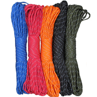 Hot Reflective Paracord 550lb 7 Strand 100FT 31 Meter Survival 7strand Paracord for Outdoor Survival Campling Tent Equipment