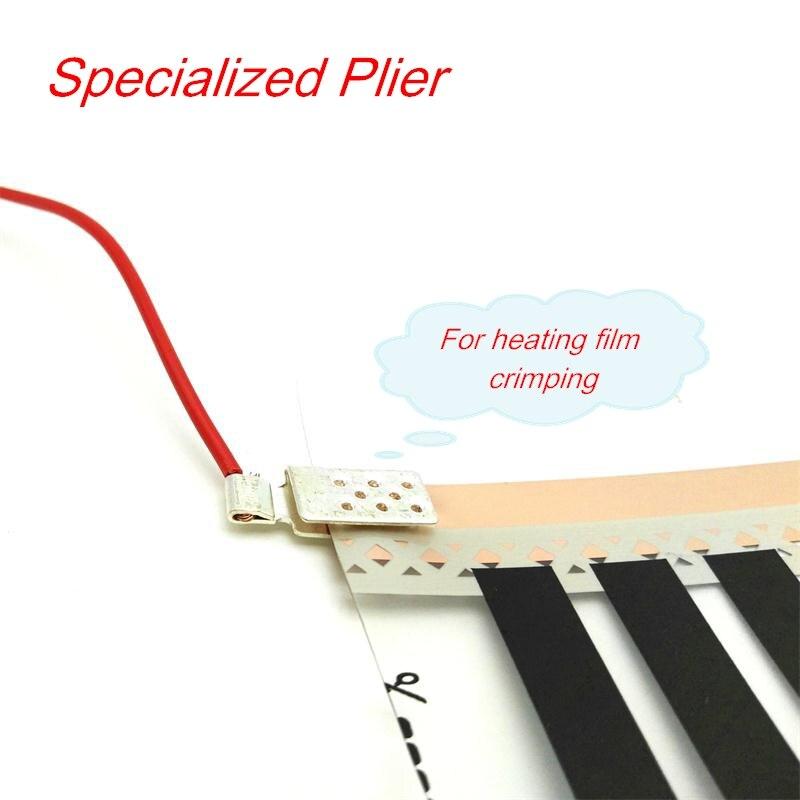 Handwerkzeuge Hohe Qualität Elektrische Infrarot Fußbodenheizung Film Terminal Crimpen Spezialisiert Zange