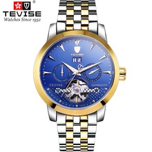 TEVISE Men Automatic self-wind Wristwatches Auto Date Man