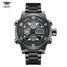AMST Мужские Наручные Часы Спорт Цифровые часы Мужские Часы Лучший Бренд Класса Люкс 2016 Известный Мужской Часы Цифровые Часы эркек коль saati