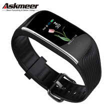 цена на ASKMEER S4C Smart watch Heart Rate Tracker Smart Bracelet IP68 Waterproof Smart Wristband Men Smart Band For IOS Android Phone