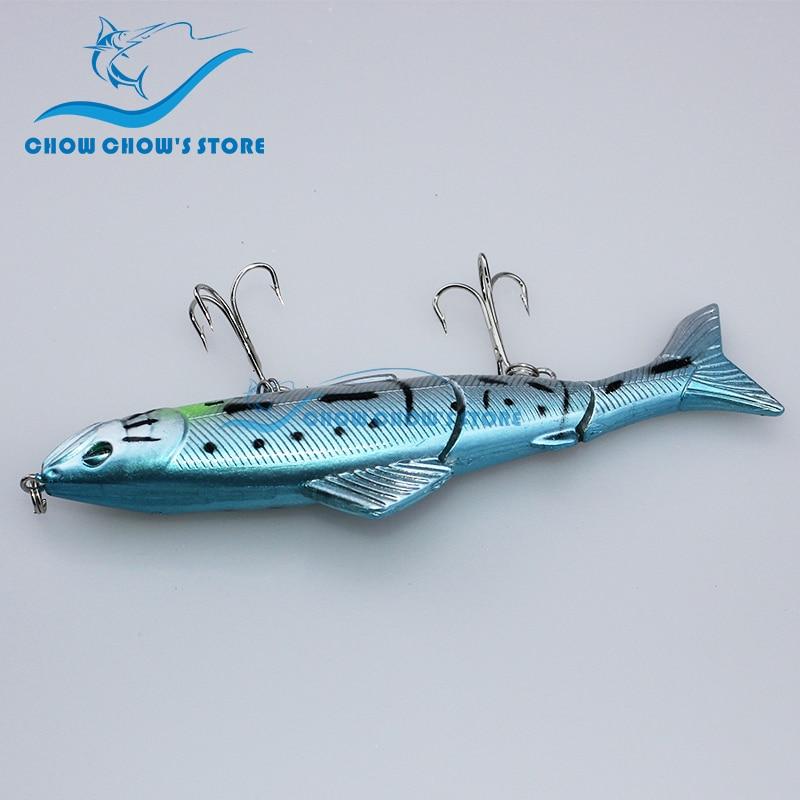 8PCS / Pack 12.5cm 18g 3 Seksione të Jashtme Swimbait 3D Eyes - Peshkimi - Foto 4
