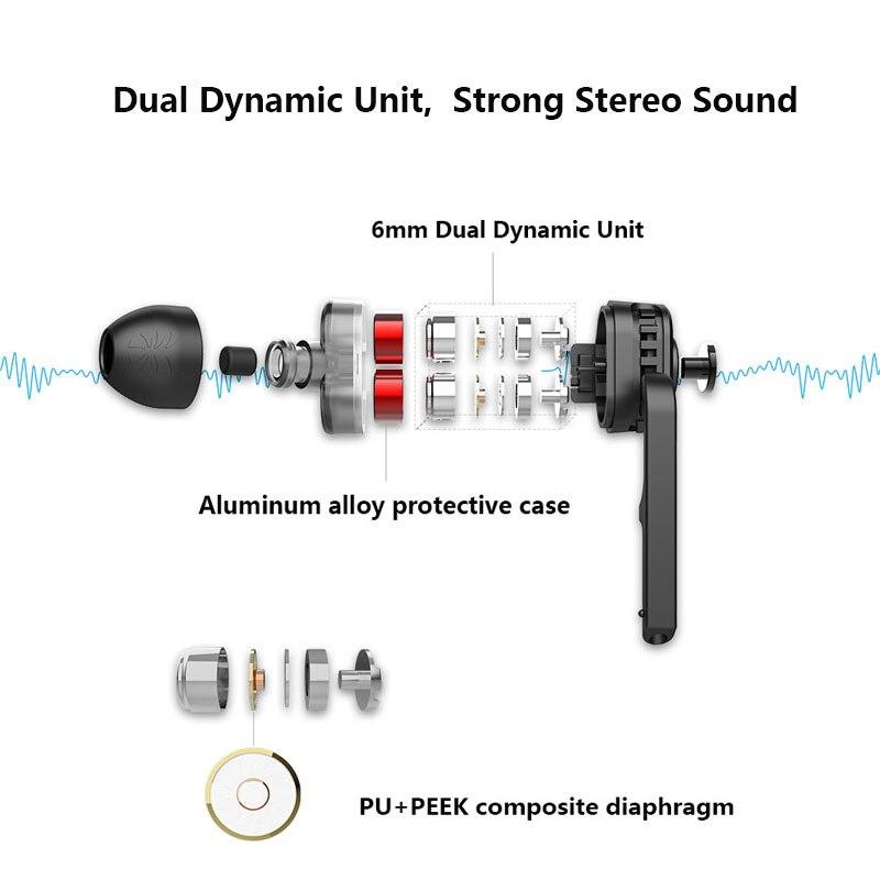 UiiSii BN60 Dual Driver Bluetooth Headphones 2
