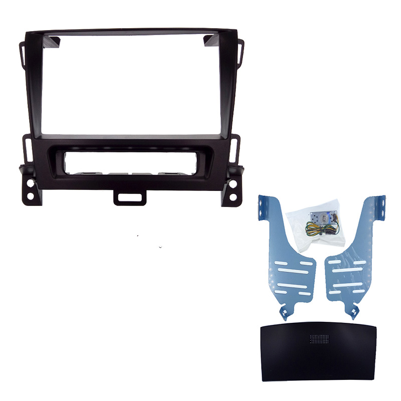 2 DIN Car Radio Fascia for OPEL Zafira Sports Tourer 2011 stereo face plate frame panel dash mount kit adapter Bezel facia frame wireless control rgb color interior underdash foot accent ambient light for opel zafira a b c for chevrolet zafira tourer