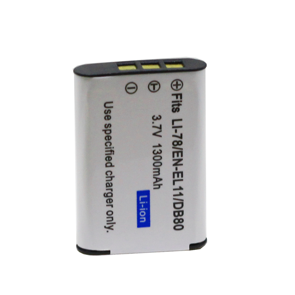 Doscing LI-60B LI 60B 1300mah Replacement Camera Battery For Olympus EN EL11 EN-EL11 W80 DLI78 D-LI78 EN-EL11 FE-370 DB-L70