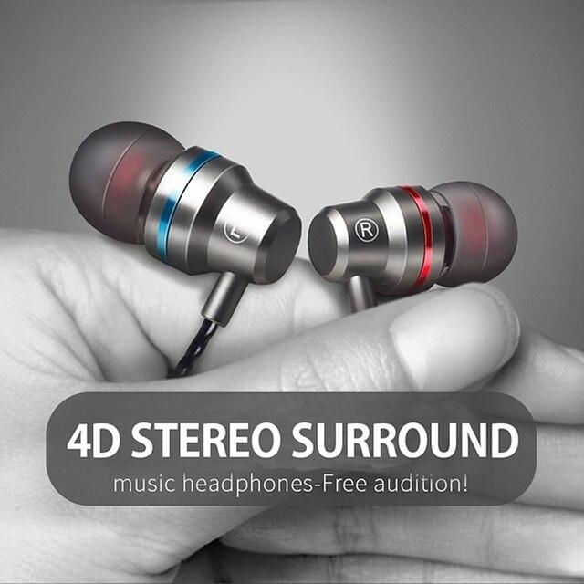 M5 cable estéreo Auriculares auriculares con Control de volumen del micrófono auriculares Bass auriculares para teléfonos Iphone Xiaomi oreja teléfono