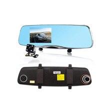 4.5 inch NT96655 Новатэк Автомобильный ВИДЕОРЕГИСТРАТОР Зеркало Заднего Вида Камера Full HD 1080 P Ночного Видения Рекордер Камеры Автомобиля Черный Ящик Автомобиля Двойного камера