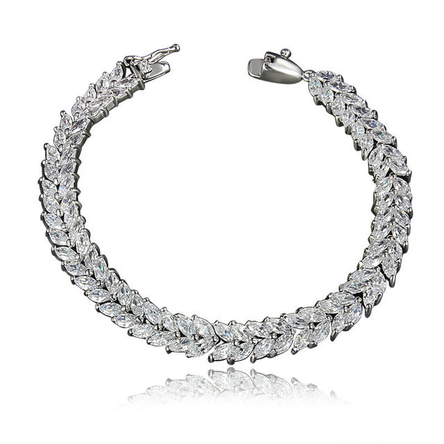 Stainless Steel Women's Health Energy With Magnetic Stone Bracelet Female CZ Crystal Bracelets Bangles In Jewelry