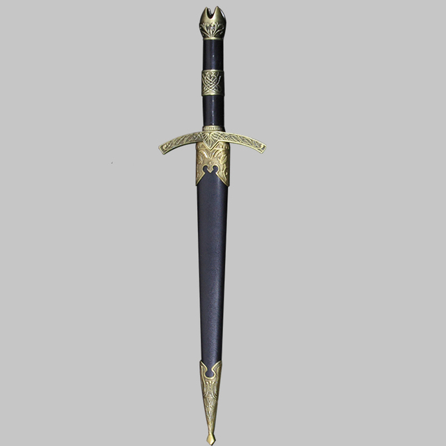 Stainless Dagger Mini sword of European Knight style Self-defense props Adult toys home decor