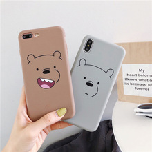 Bear cartoon silicone soft case for iphone x xs max cute bear coque on 6s 6 plus matte cover 7 8plus phone