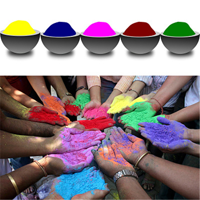 100g/bag Colored Powder For Holi Party Novelty Festival Rainbow Corn Flour <font><b>Funny</b></font> Gadgets Colorful Powder Gags Practical Jokes image
