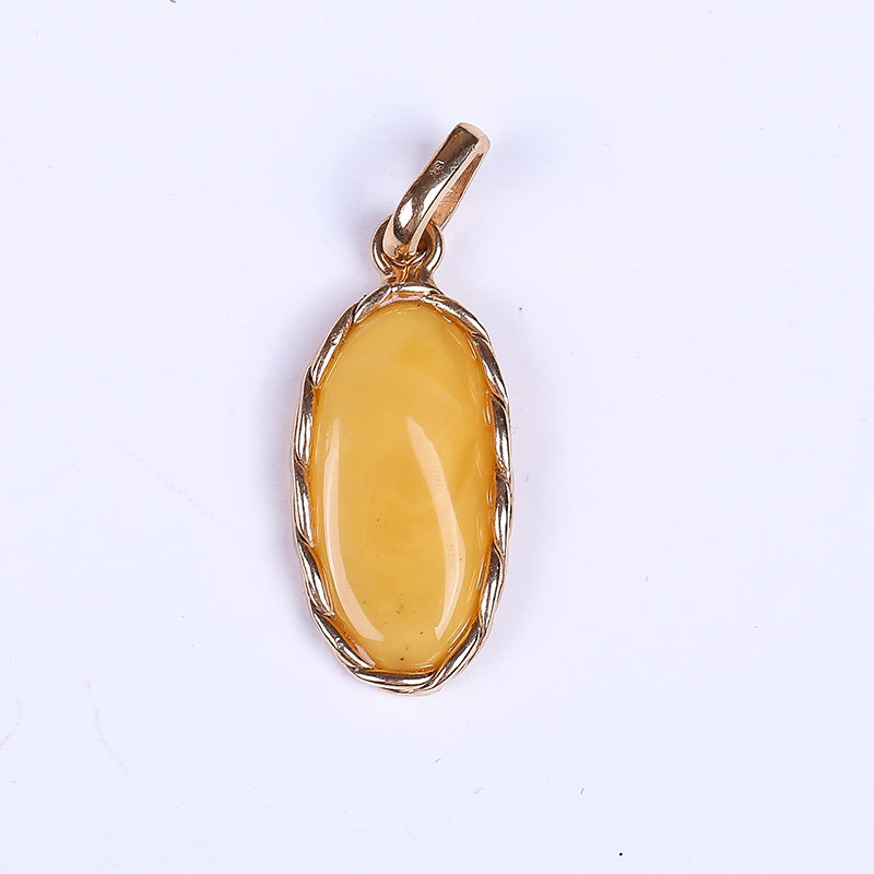 JIUDUO Pure natural amber beeswax Pendant fashion pretty 100% 925 sterling silver factory outlet fashion factory outlet special jiuduo fashion natural baltic amber beeswax female necklace pendant 925 silver design factory direct special package mail
