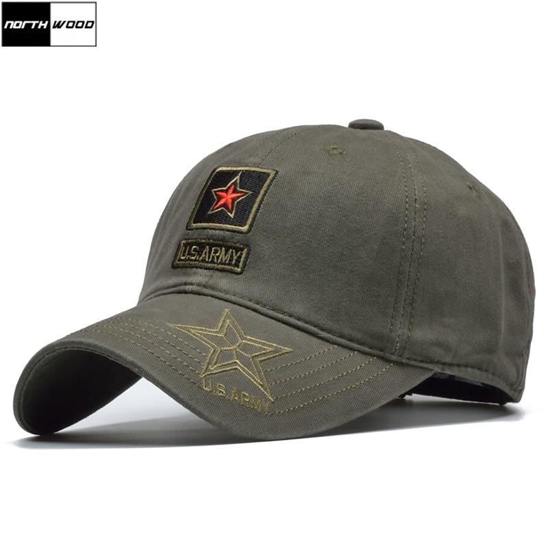[NORTHWOOD] US Army Cap Camouflage Baseball Cap Men Snapback Hat Cotton Camo Jungle Tactical Cap Bone Militar Women Army Hat
